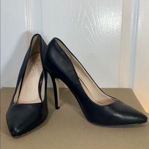 Aldo Genuine leather black heels size 8 1/2